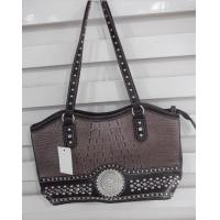 Buy cheap new collection western immitation leather handbag with big rhinestone concho product
