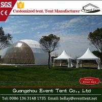 Buy cheap Big geodesic dome tent , 30m diameter white large wedding marquee tent for sale from Wholesalers