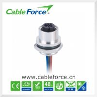 Buy cheap Female 5 Pin A-Code M12 Panel Mount Receptacle Rear Mounting Soldered product