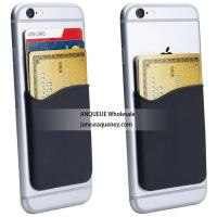 Quality Low price buy $0.3 silicone adhesive 3M sticky wallet card holder for any smart phone for sale