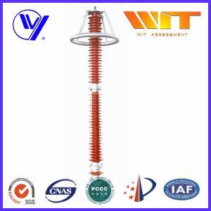 Buy cheap 220KV Red Transmission Line Surge Arrester , Composite Polymer Lightning Arrestor from Wholesalers
