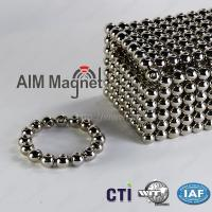 Buy cheap Strong neodymium sphere magnet N35 Nickel coating product
