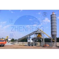 Buy cheap HZS90 Belt Type Concrete Batching Plant 30% - 40% High Efficiency 60kw Power product