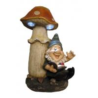 Buy cheap Wonderful Solar Light Yard Decorations In Gnome Reading Under Mushroom Shape product
