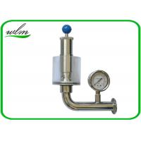 Buy cheap Adjustable Automatic Pressure Relief Valve / Sanitary Union Exhaust Pressure Valve product