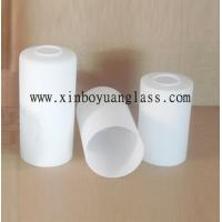 Buy cheap Milk white Cylinder glass lamp cover from Wholesalers