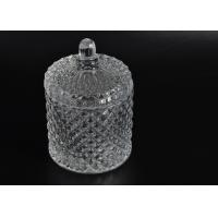 Buy cheap Elegant White Glass Dome Candle Holder Personalised Glass Jars With Lid product