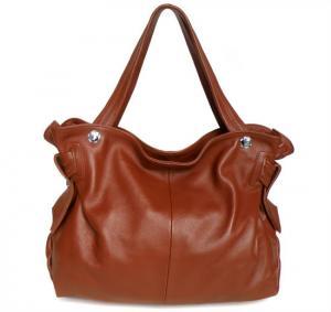 Buy cheap Wholesale Price Brown Leather Lady Fashion Shoulder Bag Handbag Purse #3033B product