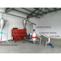 Buy cheap Woodpowder grinding production line wood flour grinder wood powder making machine with bag dust collector product