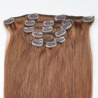 Buy cheap Factory Price Brown Hair Color Silky Striaght Clips in Hair Extension in stock product
