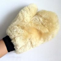 Buy cheap sheepskin fur leather mittens for auto car washing product