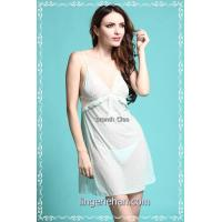 Buy cheap sexy sheer silk nightgown underwear product