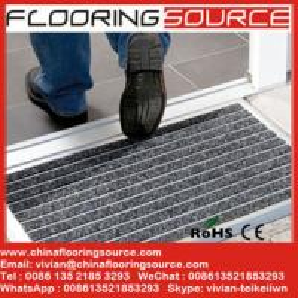 Quality Aluminum doormat heavy duty winter door mat welcome dirt stopper mat carpet entrance mat for sale