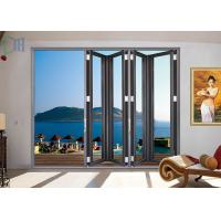 Buy cheap Toughened Double / Single Glass Aluminium Bifold Doors Partition For Banquet Hall product