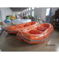 Buy cheap Orange PVC Tarpaulin Fabric Rafting Boat  With Reinforced Strips For White Water product