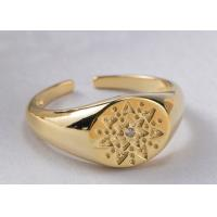 Buy cheap Retro Pattern Round Jewelry Sterling Silver Rings For Women 9mm Width product