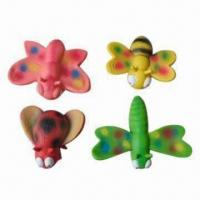 China Latex pet toys, insect shape, multi-styles are available on sale