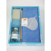 Buy cheap Blue Luxury Bath Accessories Sets With Bath Soap , 100ml Perfume Oil product