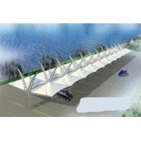 Buy cheap Customized Double Side Car Parking Tensile Structure Steel Frame Waterproof product