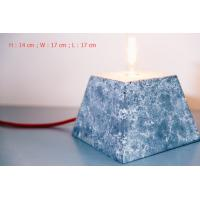 Buy cheap Home deco marble cement pendant lamp rectangle concrete table lamp with lighting from wholesalers