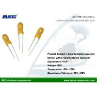 Buy cheap Good Electric Performance 47UF 35V 10% Radial Tantalum Capacitor with Low from wholesalers
