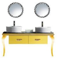 Buy cheap Classic Stainless Steel Bathroom Vanity Furniture Set with Double Basin (MZ3082) product