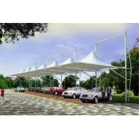 Buy cheap High Peak Car Park Shade Structures , Membrane Steel Frame Car Canopy product
