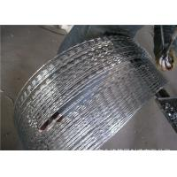 Buy cheap Rusty  Concertina Stainless Steel Security Barbed Wire  Ribbon   , CBT-65 Razor Barbed Tape product