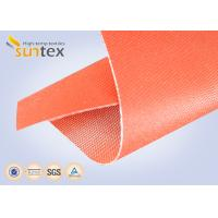 Buy cheap 32oz Red Silicone Rubber Coated Fiberglass Cloth For Welding Blanket Fireproofing Textiles product