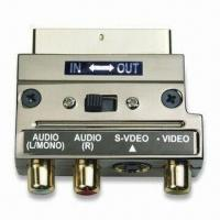 Buy cheap SCART Adapter/Connector with Metal Shell and 3RCA and S-Video Jacks product