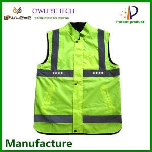 China SMD LED reflective clothing/walking safety LED waistcoat reflective/cheap safety LED reflective vest on sale