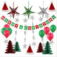 Buy cheap Paper Honeycomb Party Decorations Merry Christmas tree hat star balloon Bunting Banner Flag product