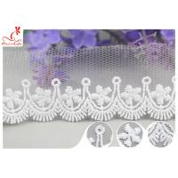 Buy cheap 3CM African Mesh Embroidered Bridal Lace / Nylon Or Polyester Wedding Lace Trim product