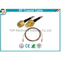 China RG36 RF Coaxial Cable SMA Male Plug To SMA Female Bulkhead Connector on sale