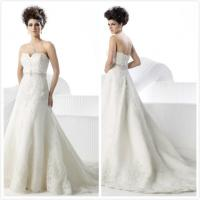 Aline Wedding Gown: Aline Organza Sweetheart Lace Wedding Gown Bridal Dress