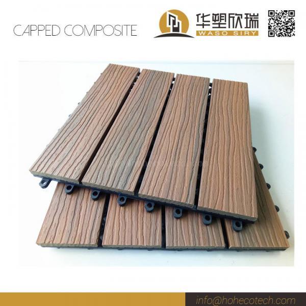 Mix Color Capped Wood Plastic Composite Deck Tile 30s30 Of