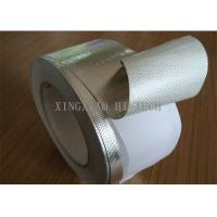 Buy cheap Self Adhesive Fireproof Coated Fiberglass Fabric Tape , Aluminum One Side Coated Fiberglass product