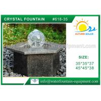 Buy cheap Hexagon Base Natural Stone Fountains Outdoor For Lanscape Hand Carved product
