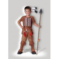 Quality Brown Indian Brave 7040 Kids Halloween Costumes , Customized Egyptian Fancy Dress for sale