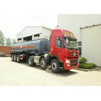 Buy cheap 3 Axles Spring Suspension Chemical Tanker Truck For 33CBM Sodium Hypochlorite NaOCl product