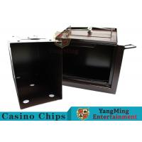Luxury Double Lock Cash Holder Box , High Precision Security Casino Cash Box