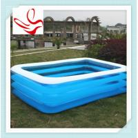3 person family inflatable swimming pools rectangle durable pvc 79 x 59 x20 93525227 Square swimming pools for sale