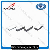 Buy cheap Thick Block Shape Neodymium Permanent Magnets 50x25x10mm With Tin Coated product