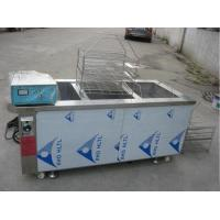 China Manual Automatic Glass Cleaning Machine Three Tank Aluminum Degreasing 6KW Heating Power on sale