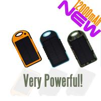 China New product 12000mAh mobile solar charger on sale