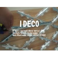 Buy cheap 95X200X3mm Barbed Razor Expanded Metal Security Fences, HDG Welded Razor Blade Mesh product