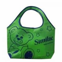 China Green Color Non Woven Fabric Bags for Shopping Strong Tensile Strength on sale