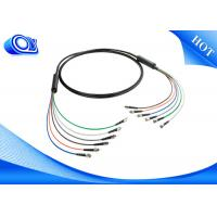 Buy cheap Black  ST Type Tactical Fiber Optic Cable Patch Cord  for Military Application product