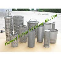 Buy cheap ALSI304-316 Stainless Steel Mesh Cup / Disc Filter / Industrial Filter Cartridge And Perforated Tube product