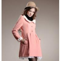 Buy cheap Fashion Pink Woolen Winter Outerwear with Beauty Lace and Chiffon for Ladies product